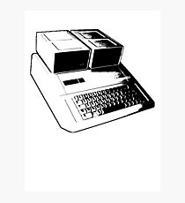 Vintage Retro Apple II Computer Stencil Photographic Print