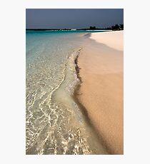 Beach, Long Island, Bahamas Photographic Print
