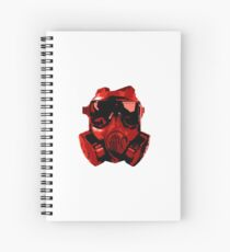 Red Gas Mask Spiral Notebook