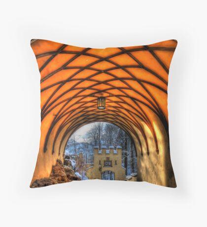 Royal Tunnel Vision Throw Pillow