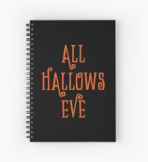 Halloween Gift - All Hallows Eve - Pagan Holiday Present  Spiral Notebook