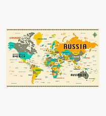 World Map Actual Size Wall Art Redbubble