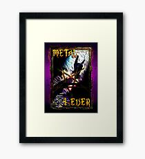 HEAVY METAL or METAL HORNS. Framed Print