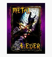 HEAVY METAL or METAL HORNS. Photographic Print
