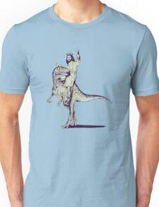 Jesus Riding Dinosaur Unisex T-Shirt