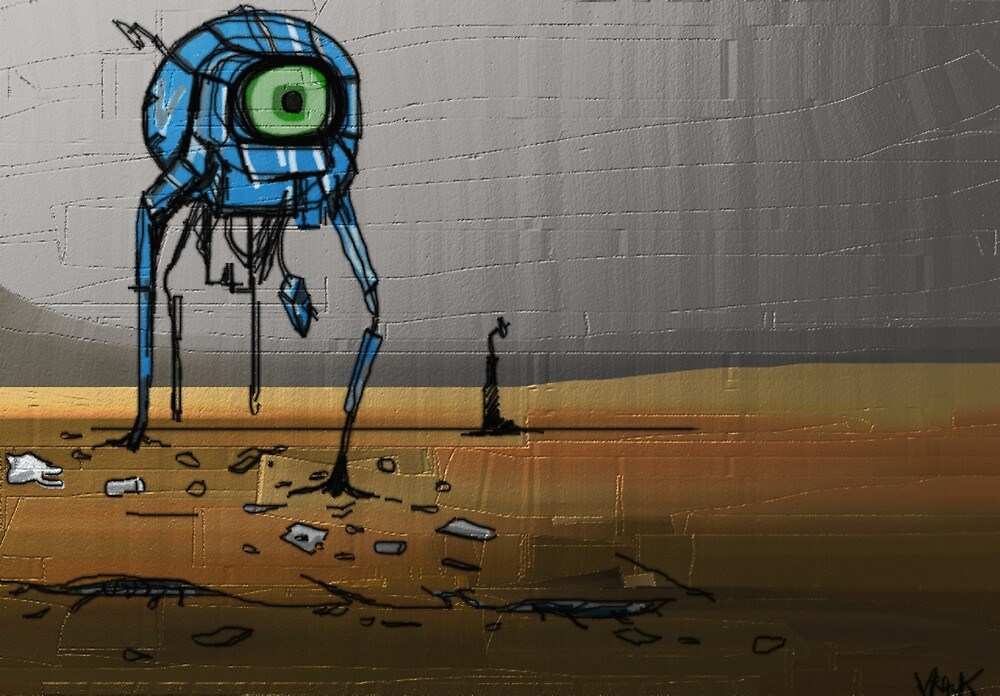 robot in the waste land by Zebodia