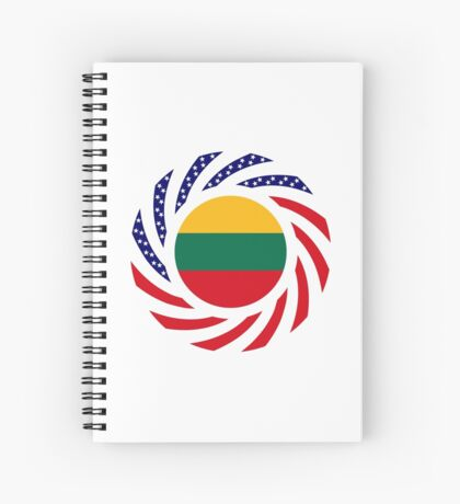Lithuanian American Multinational Patriot Flag Series Spiral Notebook