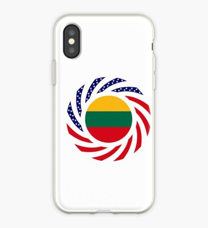 Lithuanian American Multinational Patriot Flag Series iPhone Case