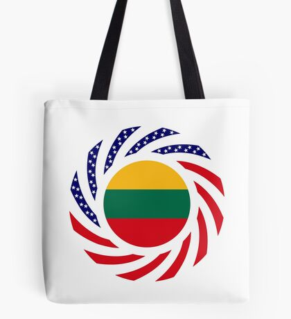 Lithuanian American Multinational Patriot Flag Series Tote Bag