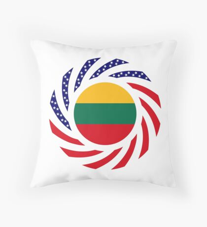 Lithuanian American Multinational Patriot Flag Series Throw Pillow