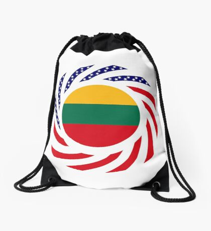 Lithuanian American Multinational Patriot Flag Series Drawstring Bag