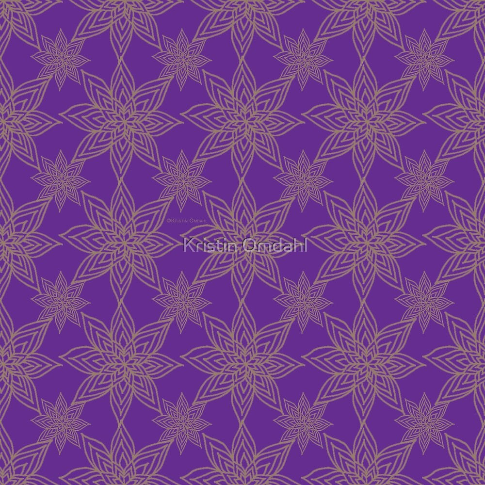Poinsettia Gold Pure Violet by Kristin Omdahl