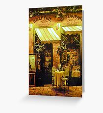Creperie Restaurant Greeting Card