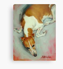 Chloe The Whippet Metal Print