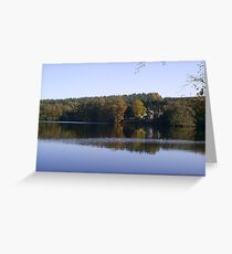 Cottage Across the Water Greeting Card