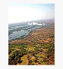 Aerial of Victoria Falls, Africa Photographic Print