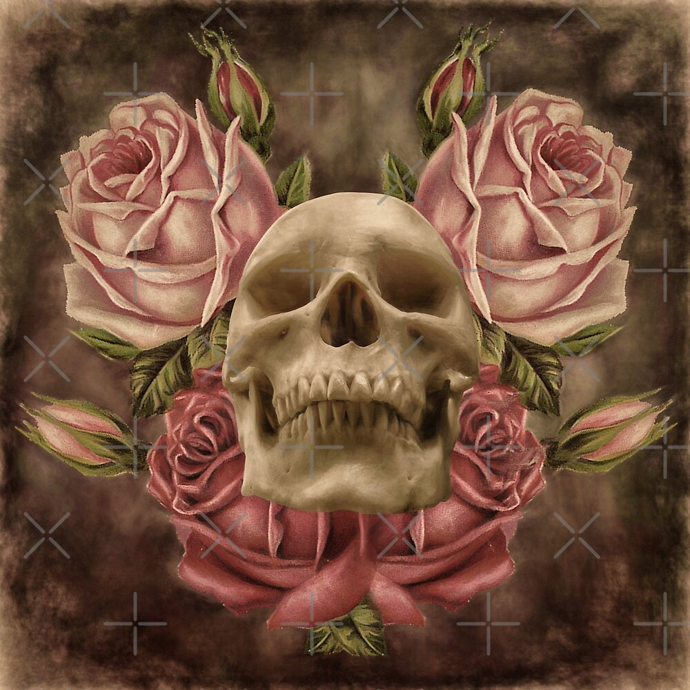 Skull And Rose's 2 by Gypsykiss