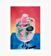 Negative of Sweets in a Glass Art Print