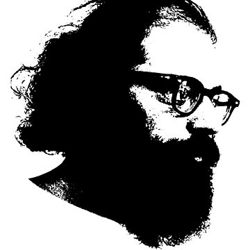 Poeta Allen Ginsberg Stencil de astropop