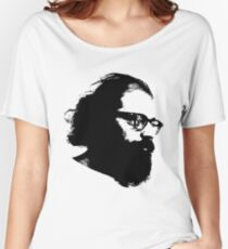 Poet Allen Ginsberg Stencil Women's Relaxed Fit T-Shirt
