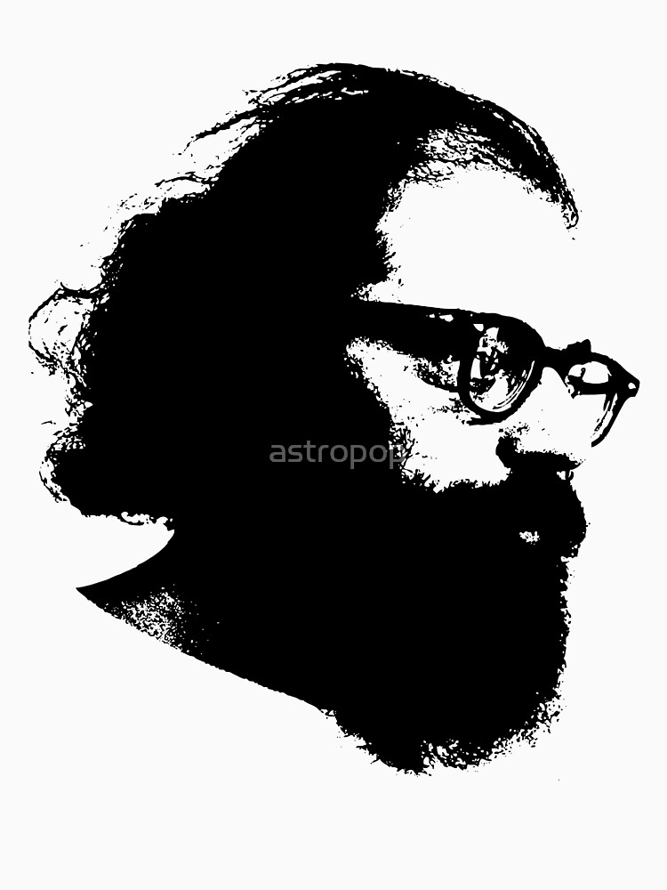 Poet Allen Ginsberg Stencil by astropop