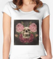 Skull And Rose's 3 Women's Fitted Scoop T-Shirt