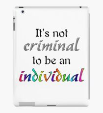 It's Not Criminal - Star Vs Quote iPad Case/Skin