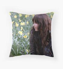Zoe Kravitz in Central Park Throw Pillow
