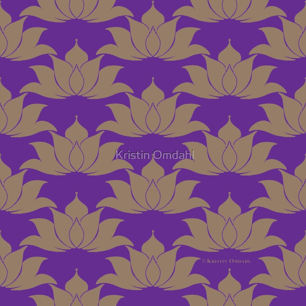 Lucky Lotus Pure Violet by Kristin Omdahl