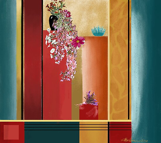 """Small Bouquet"" - Abstract realism by Patrice Baldwin"