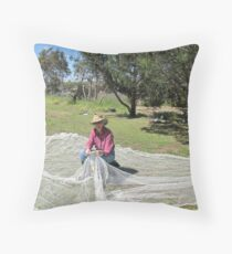 'A STITCH IN TIME!' to save the fruit. Throw Pillow