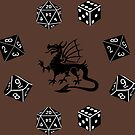 Dice and Dragons Pattern by mintdawn