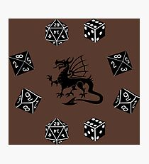 Dice and Dragons Pattern Photographic Print
