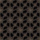 Poinsettia Gold Black by Kristin Omdahl