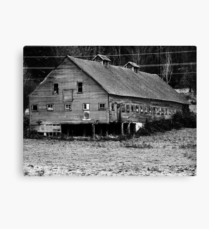 Long Barn in high contrast Canvas Print