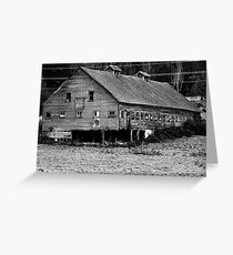 Long Barn in high contrast Greeting Card