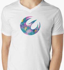 Watercolor Sabine (white) Mens V-Neck T-Shirt