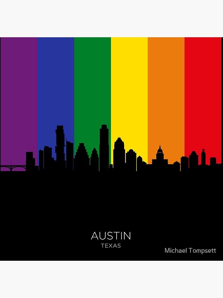 Austin Texas Skyline by ArtPrints