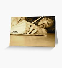 Poets Paint Brush Greeting Card