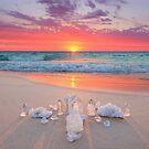 Crystal Grid Beach Sunset by CarlyMarie