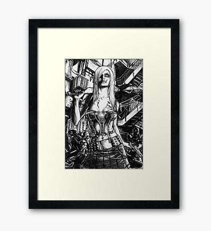 Zombie  Deception Framed Print