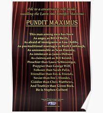 Pundit Maximus Poem Poster