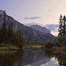 Mount Yamnuska and the Bow River by Michael Collier