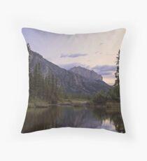 Mount Yamnuska and the Bow River Throw Pillow