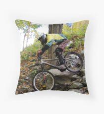 Men's Downhill Race at Sugarbush Throw Pillow