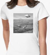 Night Flight Womens Fitted T-Shirt