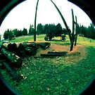 Old Logging Camp and Equipment by Clayton Bruster