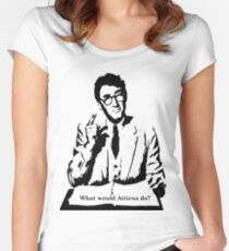 What would Atticus do?  Women's Fitted Scoop T-Shirt