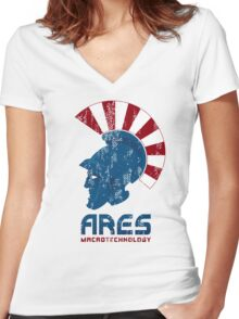 Ares Macrotechnology Women's Fitted V-Neck T-Shirt