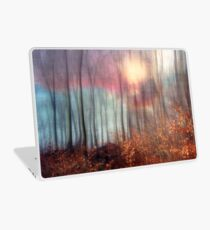 Stillness - sunny winter evening in a forest Laptop Skin